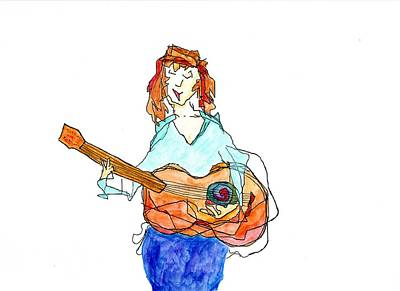 Painting - Redhead Player by Jim Taylor