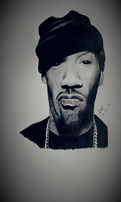 Hip Drawing - Redman  by Damien Wilson