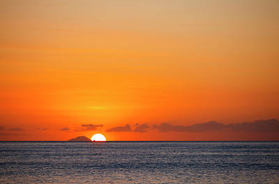 Antilles Photograph - Redonda With Colorful Sunset by Michaelutech