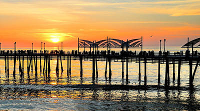 Photograph - Redondo Beach Sunset by Michael Hope