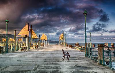 Redondo Pier Art Print by Joseph Hollingsworth