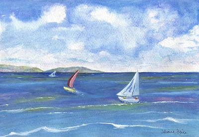 Painting - Redondo To Catalina by Jamie Frier