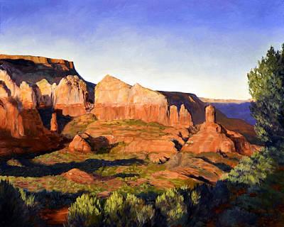 Desert Painting - Redrock Afternoon by SJW Grogan