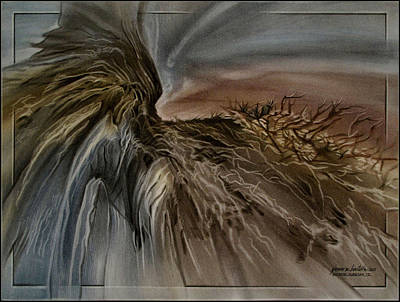 Pastel - Redrockscape 2010 by Glenn Bautista