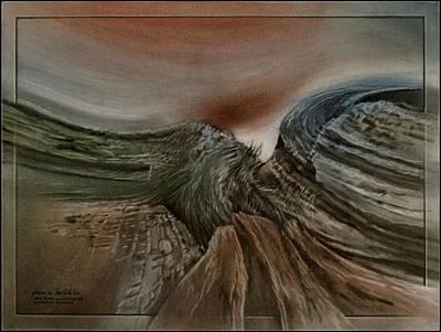 Pastel - Redrockscapeb 2010 by Glenn Bautista
