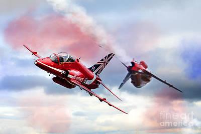 Red Tail Hawk Digital Art - Reds Arrows Pass  by J Biggadike