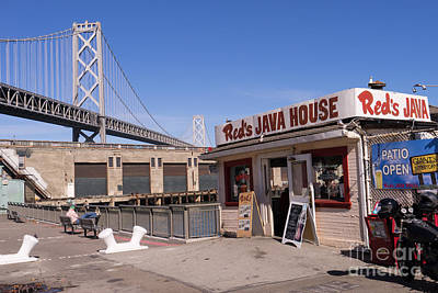 Photograph - Reds Java House And The Bay Bridge At San Francisco Embarcadero Dsc1867 by Wingsdomain Art and Photography