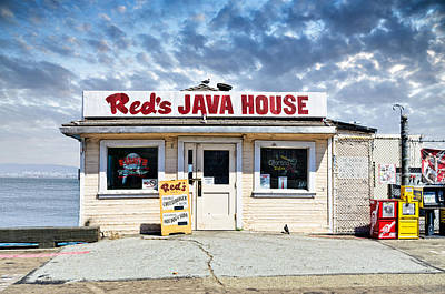 Old Fashoined Photograph - Red's Java House by Tim Fleming