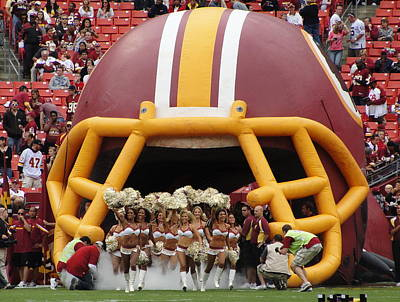 Redskins Cheerleaders Art Print