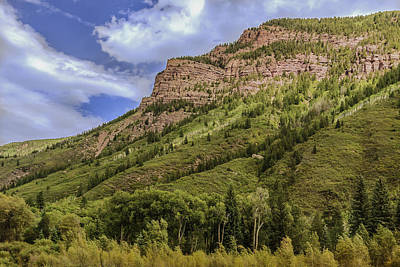 Redstone Cliffs At Redstone Colorado Art Print