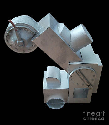 Cardboard Mixed Media - Redundant Machine No 2 by Roy Isaacs