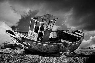 Trawler Photograph - Redundant by Mark Rogan
