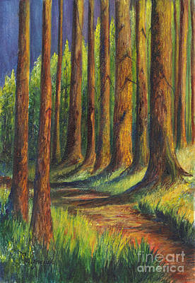 Painting -  Jedediah Smith Redwoods State Park by Carol Wisniewski