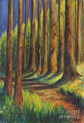 Painting -  Jedediah Smith Redwoods State Park by Carol Wisniewski