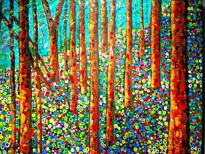 Painting - Redwood Hillside by Shirley Smith