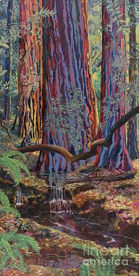 Redwood Picnic Art Print by Cheryl Myrbo