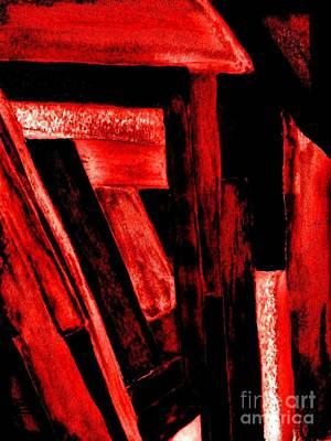 Wrap Digital Art - Redwood Shed by Marsha Heiken