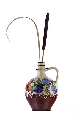 Reed In The Vase Print by Michal Boubin