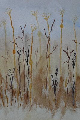 Reeds And Weeds Art Print by Catherine Arcolio