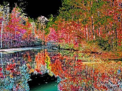 Digital Charlotte Nc Photograph - Reedy Creek Nc 3 by Earl Johnson