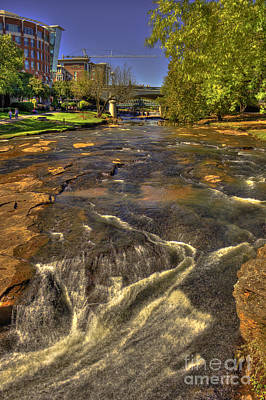 Photograph - Reedy River Falls Flows On 2 Greenville Sc by Reid Callaway