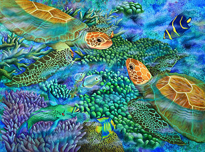 Steele Photograph - Reef Encounter by Carolyn Steele