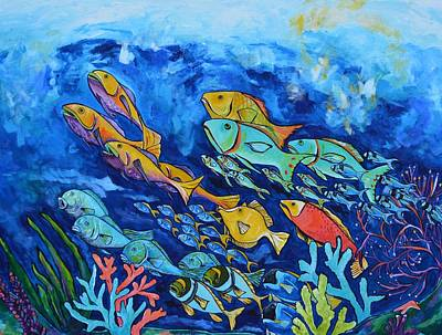 Fish Underwater Painting - Reef Fish by Patti Schermerhorn