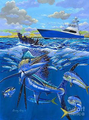 Shark Painting - Reef Sail Off00151 by Carey Chen