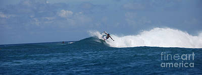 Photograph - Reef Surfer Moorea Panorama by Camilla Brattemark