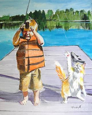 Painting - Reel'em In by Judy Kay