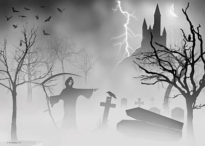 Spook Digital Art - Reeper by Brian Wallace