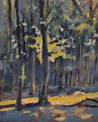 Painting - Reeshof Forest by Nop Briex