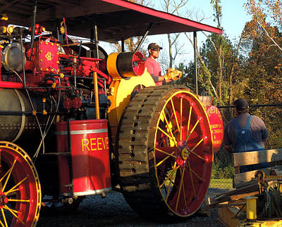 Art Print featuring the photograph Reeves Steam Tractor by Pete Trenholm