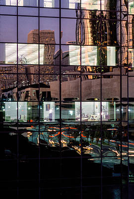 Down Town Los Angeles Photograph - Refelctions by David Tuthill
