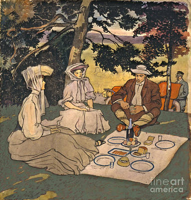 Refined Picnic 1904 Art Print by Padre Art