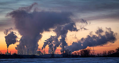 Art Print featuring the photograph Flint Hills Resources Pine Bend Refinery by Patti Deters
