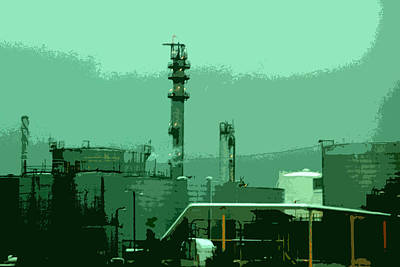 Digital Art - Refinery by Kathleen Stephens