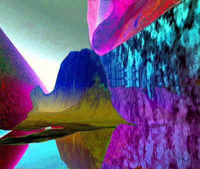 Reflect Glow X Art Print