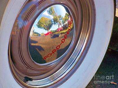 Wax Cap Photograph - Reflected Car Show by Chuck  Hicks
