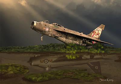 Lightning Digital Art - Reflected Glory by Steve Kerry
