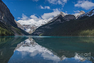 Photograph - Reflected In Lake Louise by Gerda Grice