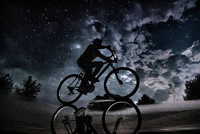 Bikes Photograph - Reflected In The Stars... by Antonio Grambone