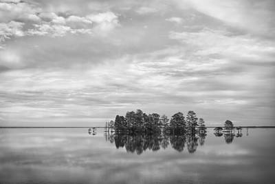 Photograph - Reflected Sky In Black And White by Bob Decker