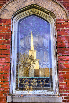 Photograph - Reflected Steeple by Rebecca Hiatt