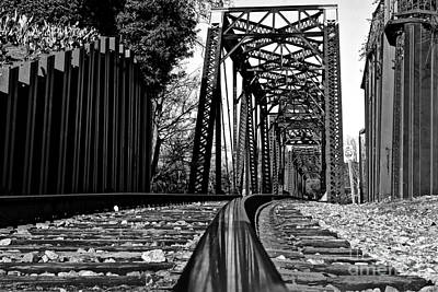 Photograph - Reflection Of Strength 6th Street Railroad Bridge  Augusta Georgia Art by Reid Callaway