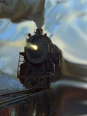 Mixed Media - Reflected Train by Dennis Buckman