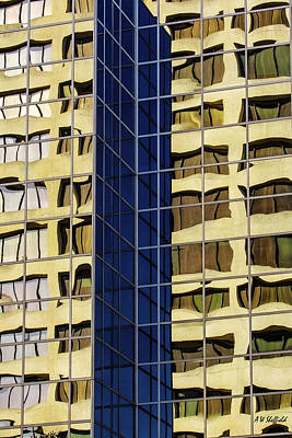 Photograph - Reflecting Architecture  by Allen Sheffield