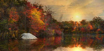 Photograph - Reflecting Autumn by Robin-Lee Vieira