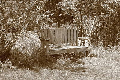 Reflecting Bench Art Print by Karen Silvestri