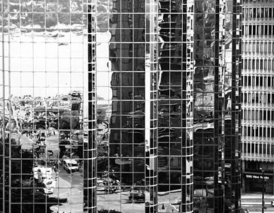 Photograph - Reflecting Bw by Laurie Tsemak